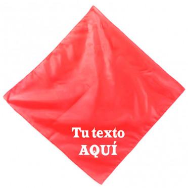 Pañuelo rojo personalizado...