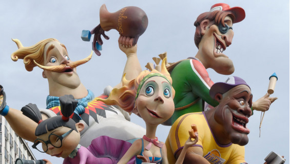 ¿Dónde se celebran fiestas de Fallas?